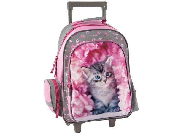 Plecak na Kółkach Szkolny z Kotkiem Kotem Kotek dla dziewczyny