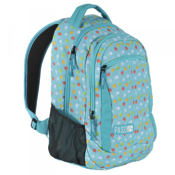 Plecak Młodzieżowy dla Dziewczyny Szkolny Niebieski w Kropki