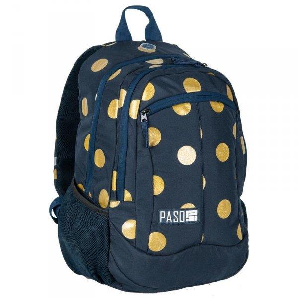 Plecak Młodzieżowy dla Dziewczyny Szkolny Granatowy w Złote Koła 17-2808UD