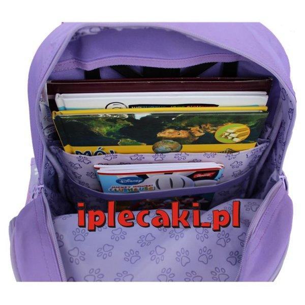 plecak szkolny fioletowy