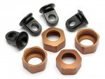 Shock Caps For C8104,8105 Std. Brown 4Pcs