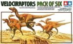 TAMIYA 60105 - 1/35 Velociraptors - Pack of Six
