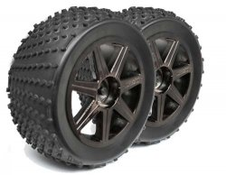 SHREDDER TYRE FOR TRUGGY + glued Spoke Black Chrom