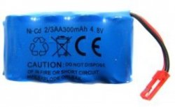 Akumulator 300mAh 4,8V Ni-Cd