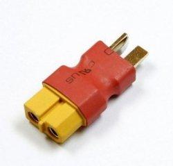 Przejście - wtyki DEAN (m)- XT60 (ż) krótki