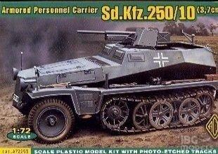ACE 72253 1/72 Sd.Kfz.250/10 3,7cm