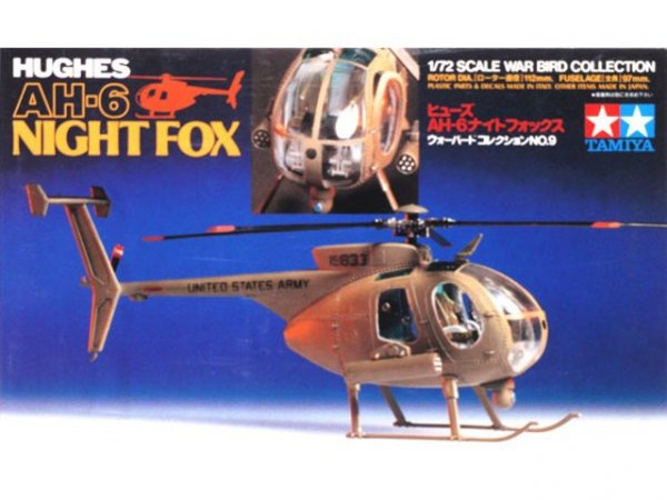 TAMIYA 60709 HUGHES AH-6 NIGHT FOX
