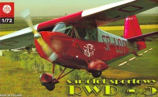 Plastyk S052 1/72 RWD-5 Samolot sportowy