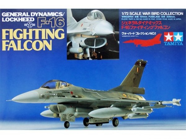 Samolot F-16 Fighting Falcon Tamiya 60701 1/72