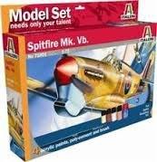 Spitfire Mk.Vb z farbami i klejem