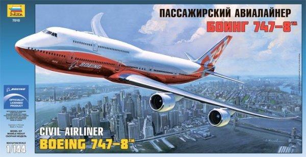 Zvezda 7010 Boening 747-8 1/144