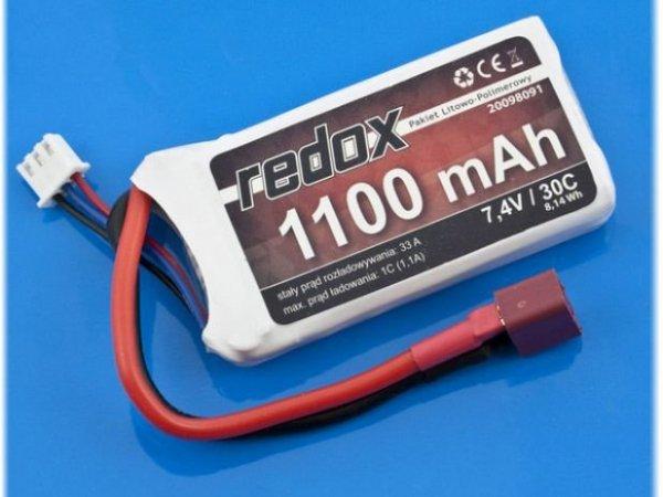 Akumulator Redox 1100mAh 7,4V 30c - Pakiet LiPo