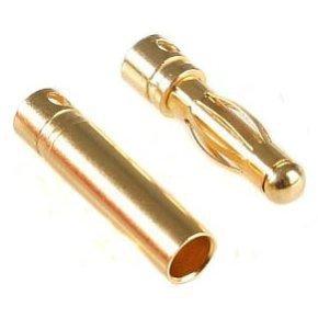 Gold Konektor banan 3,5 mm  - Para