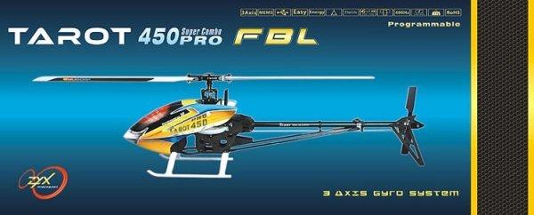 Helikopter RC Tarot 450 PRO V2 FBL BLACK SUPER COM