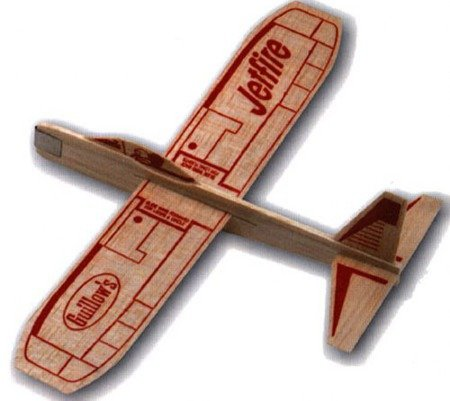 Samolot rzutka do złożenia z ZESTAWU Guillow's