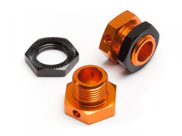 5MM HEX WHEEL ADAPTERS TROPHY BUGGY (ORANGE/BLACK)