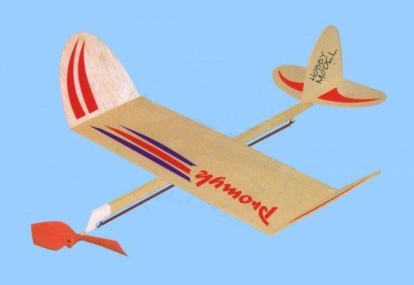 Samolot PROMYK z napędem gumowym