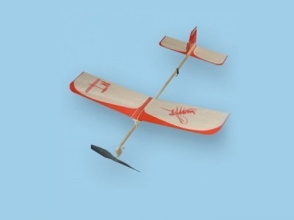 Samolot KOMAR z napędem gumowym-na gumkę