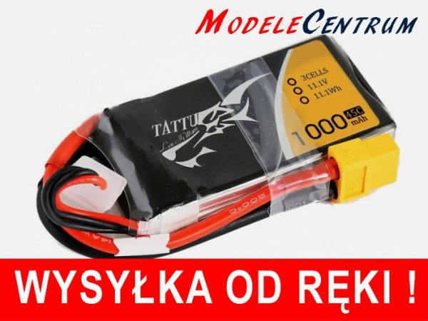 Akumulator Tattu 1000mAh 11.1V 45C 3S1P