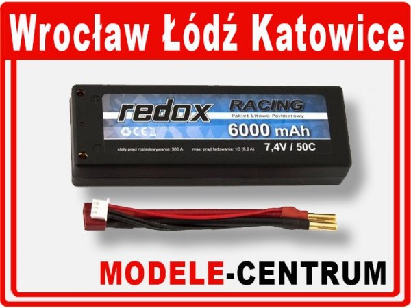 Akumulator Redox RACING 6000 mAh 7.4V 50C