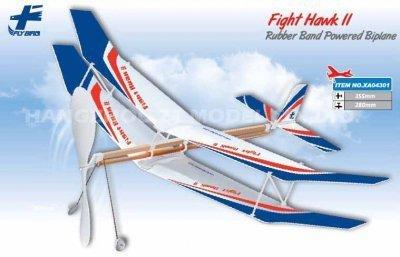 Fight Hawk II 500mm samolot dwupłatowy na gumę