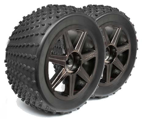 SHREDDER TYRE FOR TRUGGY + glued Spoke Black Chrom  101157-S