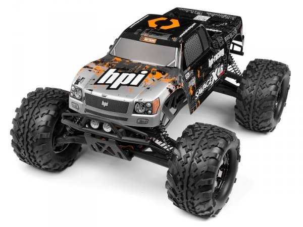 NITRO GT-3 TRUCK PAINTED BODY SILVER/BLACK 10988
