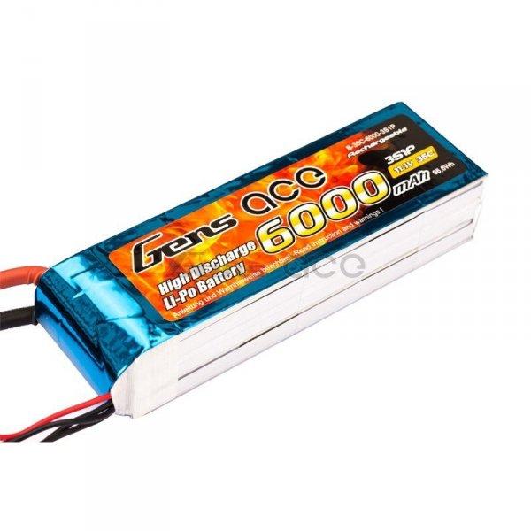Gens Ace: 6000mAh 11.1V 35Cvv Akumulator