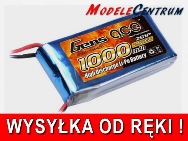 Gens Ace: 1000mAh 7.4V 25C Akumulator