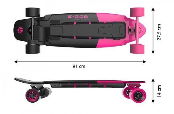 Deskorolka Elektryczna Yuneec E-GO 2 Różowa