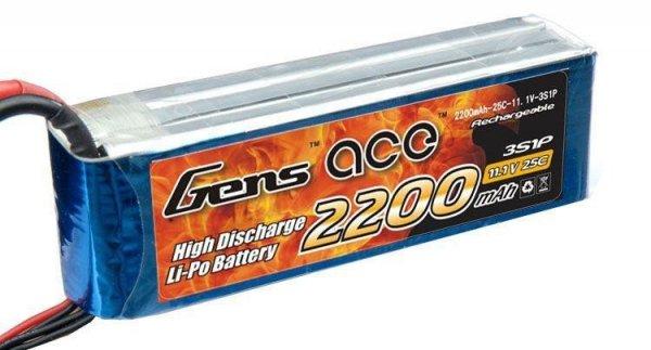 Gens Ace 2200mAh 11.1V 25C 3S1P Akumulator