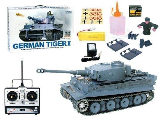 Czołg German Tiger 1  1:16  + Dym Kamuflarz Heng Long