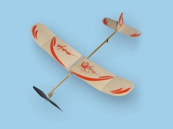 Samolot MAJA z napędem gumowym-na gumkę