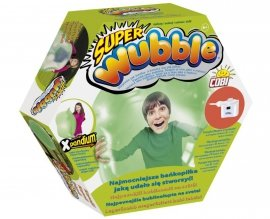 WUBBLE Super bańkopiłka z pompką, Zielona
