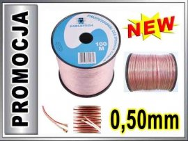 KAB0354 Kabel głośnikowy CCA 2x0.50mm CABLETECH 1m