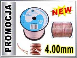 KAB0361 Kabel głośnikowy CCA 2x4.00mm CABLETECH 1m