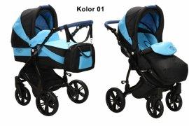 BabySafe AQUILA 01 Wózek 2w1 WIELOFUNKCYJNY + PARASOL