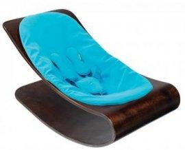BLOOM BBE10601C Leżaczek drewniany Coco cappucino z niebieskim