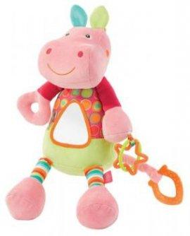 FEHN FE085037 Zabawka wibrująca z lusterkiem - Hipopotam- kolekc