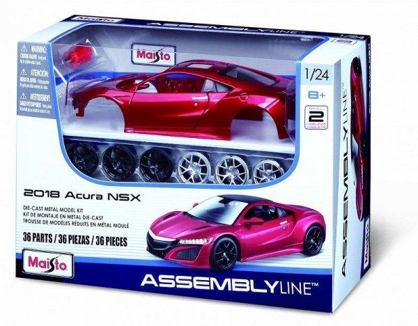 Model metalowy Acura NSX 2018 1:24 do składania
