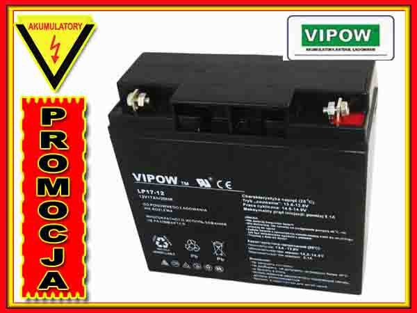 BAT0212 Akumulator żelowy VIPOW 12V 17.0Ah