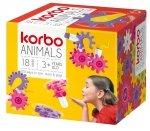 KORBO RUCHOME KLOCKI ANIMALS 18 EL. 4+