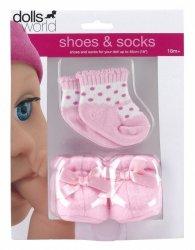 Różowe buty i skarpetki dla lalek
