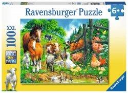 RAVENSBURGER 100 EL. XXL ZWIERZĘTA RAZEM PUZZLE 6+