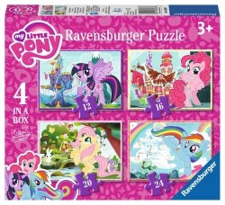 RAVENSBURGER 4W1 MY LITTLE PONY PUZZLE 3+