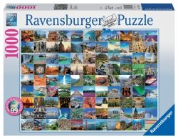 RAVENSBURGER 1000 EL. 99 PIĘKNYCH MIEJSC PUZZLE 12+
