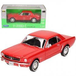 WELLY FORD MUSTANG 1964 COUPE, CZERWONY SKALA 1:24