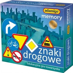ADAMIGO GRA MEMORY ZNAKI DROGOWE 7+