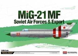 ACADEMY MIG-21MF SOVIET AIR FORCE&EXPORT SKALA 1:48