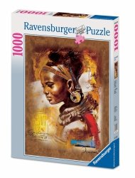 RAVENSBURGER 1000 EL. AFRYKAŃSKA PIĘKNOŚĆ PUZZLE 12+